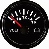 medidor atv venda por atacado-Medidor impermeável do calibre do volt do voltímetro 12V 8-16V 52mm (2