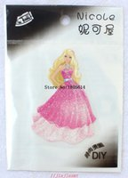 Wholesale Wholesale Iron Princess Patches - 100 pcs fashion popular beautiful princess Embroidered patches iron on cartoon Motif Applique embroidery accessory