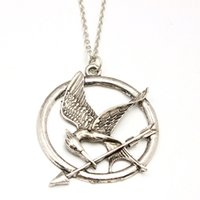 Wholesale Authentic Props - The Hunger Games Necklaces Inspired Mockingjay And Arrow Pendant Necklace Authentic Prop imitation Jewelry Katniss Movie Wholesale DHL Free
