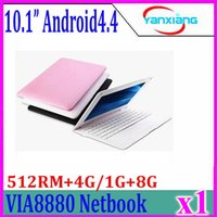 Wholesale 1g 8g Laptop - 1pcs 10inch Mini Laptop Notebook Computer webacm 512 4G 1G 8G Via 8880 Android netbook laptops HDMI Integrated Graphics ZY-BJ-3