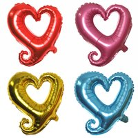 Wholesale Heart Shape Balloon Decoration - Hot sale 18 inch light 10pcs lot Large hook heart shape foil balloons heart balloon wedding party decoration marriage balloons