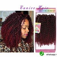 "Wholesale Kanekalon Curly - Kanekalon Ombre Braiding hair synthetic Crochet braids Kinky Curly 10""inch 3strands pack kinky Twisted Crochet Latch Hook Braiding Bundles"