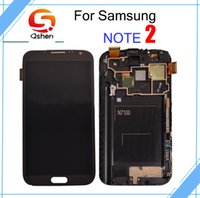 Wholesale Galaxy S2 Touch Screen Digitizer - AAA Quality New Lcd Screen For Samsung Galaxy Note 2 N7000 Touch Digitizer Assembly with Frame Free Shipping
