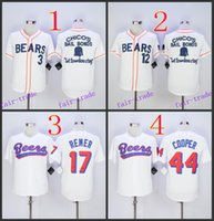 Wholesale News Free - Bad News BEARS Movie Button Down Jersey,3# 12# 2015 Baseball Jersey Cheap Rugby Jerseys Authentic Stitched Free Shipping Size 48-56