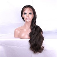 Wholesale Discount Color Wigs Women - Discounting Wigs For Black Women Body Wave Color 1 Brazilian Hair Full Lace Wigs With Baby Hair 150% Density