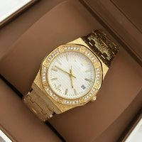 Wholesale Gold Bracelets For Ladies - Hot sale Luxury women Dress Watch shine Diamond Brand Steel Bracelet Luxury wristwatch Lady Fashion Quartz Clock for party special design