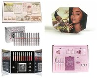 Wholesale Makeup Kits Box - Newest Kylie Lip Kit by kylie jenner Velvetine Liquid Matte 12 Days Vault Makeup Holiday Big Box I WANT IT ALL The Birthday Collection Gift