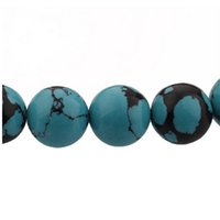 Wholesale Diy Jewery - 8mm Stone Round Loose Spacer Beads For European Style DIY Jewery Making Bracelets 20pcs lot