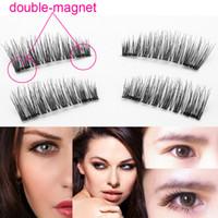 Wholesale Eye Doubling Glue - Double Magnetic Eyelashes Natural Beauty No Glue Reusable Fake Eye Lashes Extension Handmade Eye Beauty Makeup Tool