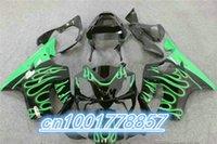Wholesale Cbr F4i Custom Fairings - CBR 600 F4i green flame black 01 02 03 CBR600 F4i 2001 2002 2003 custom fairing