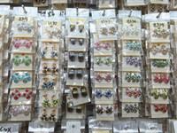 sortierte schmucksachen großhandel-Top Quantity Fashion Exquisite assorted Kristall Schmuck Ohrstecker Ohrringe für Frauen beste Geschenk Großhandel Paare