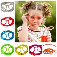 Wholesale Eyeglasses Drinking - Silly Straw Glasses Novelty Drinking Straw, Grinking Glasses Drinking Straw Eyeglass Frames Piped free dhl shipping