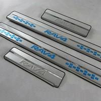 Wholesale Toyota Rav4 Scuff Plates - Toyota RAV4 RAV 4 Stainless Steel Exterior Door Sill Scuff Plate Threshold Trim for 2008- 2013 2014 2015 Toyota Rav4 Accessories 4pcs set