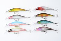 8pcs / lot Hard Plastic Minnow Fishing Lures Crankbait 8CM 6.3G 8 # крючки Crank Bass Wobble Приманки для приманки