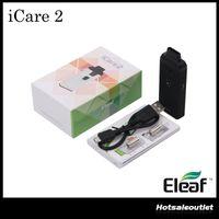 Wholesale Atomizers Led - Authentic Eleaf iCare 2 Starter Kit 650mAh with 2ml Eleaf iCare 2 Atomizer AIO Style with LED iCare 2 Vape Kit