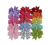 """Wholesale Hairpins Handmade Ribbon - 15% off! 196 colors 2016 new handmade 3"""" Hair Bows hair clip Baby Ribbon Bow hairpin baby girl headband Kids hair Accessories 7 style 50pcs"""