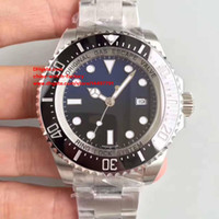 Wholesale Waterproof Black Ceramic Watches - Best Edition Waterproof Watch NOOB Factory V7 44mm Ceramic Bezel 116660 Black SA3135 Swiss ETA 3135 Movement Automatic Mens Watch Watches
