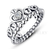 Wholesale Exquisite Stone - Romantic European Silver Ring 925 Sterling Silver 18K Platinum Plated AAA Zircon Stones Luxurious Exquisite Finger Rings for Woman Jewelry