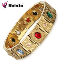 Wholesale Magnetic Jewelry Bracelet Health - Rainso Stainless Steel Bio Energy Bracelet Fashion Health FIR Bangle Magnetic Jewelry Bracelets For Women