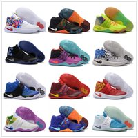 Wholesale Cheap Shoe Laces Free Shipping - 2016 Cheap Sale Kyrie Irving Mens Basketball Shoes 2 Sports Training Sneakers Size 40-46 Free Shipping