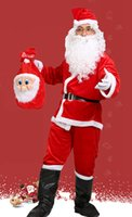 Wholesale Santa Christmas Yard - Christmas, santa claus clothes, thickening big yards, men, nine sets of luxury, with gloves, boots, wigs, non-woven bags