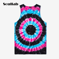 Wholesale Sexy Car Clothes - Wholesale- SOULLAB 2017 summer men tank top long tee tie-dye vest justin Bieber swag skate car styling clothing quality beach rap rapper