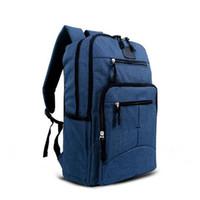 ingrosso zaino universitario blu-20pcs nero blu grigio moda college scuola affari laptop zaino doppia spalla sport all'aria aperta borsa da viaggio casual