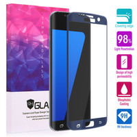 Wholesale Cheapest 3d Glasses - 100pcs Cheapest S7 Edge 3D Curved Full Cover Tempered Glass Screen Protector with Wood Retail Package