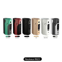 Wholesale Metal Cell - wismec reuleaux rx2 3 box mod 200w TC mod with replaceable back cover for 18650 2 cells or 3 cells 100% Original