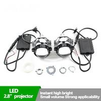 Wholesale headlamp assemblies for sale - Group buy New quot W bi led headlight projector lens led headlamp for car headlight assembly white color