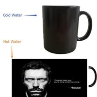 Wholesale Dr House - Wholesale- Dr Gregory House mug heat reveal morphing coffee mugs heat changing color beer magic ceramic tea