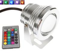 ingrosso lampada di pesce bubbling-RGB LED Acquario Acquario Serbatoio Sommergibile Lampada Bubble Air Telecomando 10W Impermeabile Led RGB per Piscina Subacquea Uso Esterno DC12V