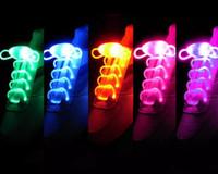 dentelles néon rougeoyantes achat en gros de-Led Light up Flash Lumineux Lacet De Mode Glowing Stick Strap Lacets de Chaussures Clignotant Neon led Parti Lacets 12 couleurs 2 pièce = 1 paire