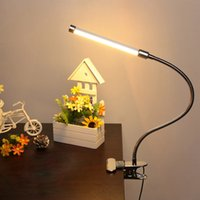 USB morsetto regolabile Clip-on flessibile Gooesneck luminosa LED Desk Table Lamp 6W 18LED degli occhi Proteggere con interruttore per la lettura di studio