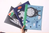 Wholesale Totoro Hand Bag - Wholesale- Kawaii 4Colors - TOTORO Oxford Cloth 32*23CM Coin A4 File Filling BAG Purse Wallet Pouch ; Hand Coin Pouch Case BAG
