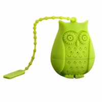 Tea Strainers owl tea infuser - 6 colors Cartoon Silicone Owl Tea Infuser Loose Leaf Tea Strainer Herbal Spice Infuser Filter Tea Tools