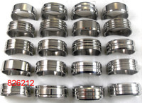Wholesale Design Mixed Stainless Steel Rings - bulk lots 100pcs Silver design Mix Men Women Stainless Steel Rings Fashion Quality Band Rings Wholesale Jewelry Lots