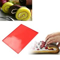 Wholesale Christmas Swiss Roll - Silicone Oven Mat Mould - Cake Roll Maker Baking Mats - Multi-purpose Baking Cake Swiss Roll Pad Bakeware Baking Tools