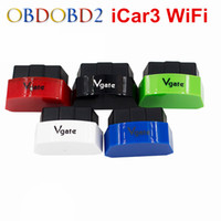 Wholesale Icar Wifi Vgate - Wholesale- New Arrival Vgate iCar3 Wifi OBDII OBD2 ELM327 iCar 3 WIFI Diagnostic Interface For Android  IOS PC ELM327 WIFI Code Reader Scan