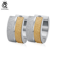 Wholesale Cool Earrings For Men - Cool Men Women Earrings Stainless Steel Allergy Free Gold Plated Jewelry Earring for Lady Gift 2017 GTE07