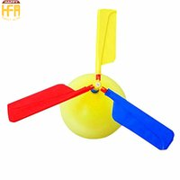 Wholesale Kids Helicopter Balloons - Hot Sale Round Balloons Balloon Toys Flights Flying Balloon Helicopter Kids Toy Children Flying Copter For Summer Party Outdoor Play