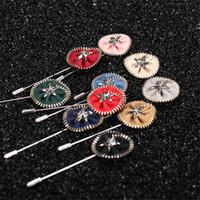Wholesale Suit Wedding Star - BoYuTe 10Pcs Lapel Metal Zipper Disc Brooch for Men Wholesale 10 Colors Fashion Wedding Lapel Pin for Suit Jewelry Christmas Ornament