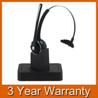 écouteurs bluetooth achat en gros de-Casque-micro sans fil Bluetooth avec microphone à perche flexible, technologie d'annulation du bruit et dock de recharge