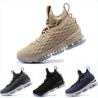 Wholesale Ghost Plush - Mens Basketball Shoes 2018 Lebron LBJ15 Ghost Grye Sports Shoes Men's Running Trainer Shoe Good Quality James 15 Sneakers