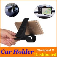 Wholesale phone holder car anti slip resale online - Car Phone Holder Stand Adjustable Clip Car Soft Anti Slip Mobile Phone Holder GPS Bracket For iPhone Car Dashboard Phone Holder Cheap