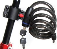 Wholesale Bicycle Wire Lock - Wholesale-Strong Steel Wire Bike Bicycle lock Cable 1050mm+2 keys BLK042