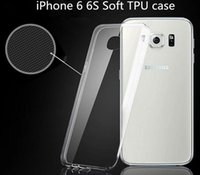 borde ultra delgado samsung s6 al por mayor-Funda ultra fina de silicona transparente transparente Protector TPU para iPhone 7 plus 6s 6 más 5S SE Samsung S7 S6 Edge J3 G530 G360 On5 LG G5