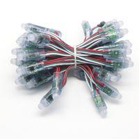 cordas de luz de pixel venda por atacado-Edison2011 500 pcs WS2811 IC Levou Pixel Módulo de Luz 12mm Ponto À Prova D 'Água Luz DC5V RGB Cordas de Natal Luz Endereçável para Sinal de Letras