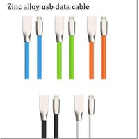 Wholesale Usb Data Cable Dhl - 2016 hot selling micro usb data cable zinc alloy 3ft zync usb data cable charging line for samsung iphone dhl free shipping