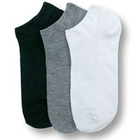 Wholesale Womens Black Crew Socks - Wholesale-New Mens Womens Crew Ankle Cut Sports Socks Black White Gray